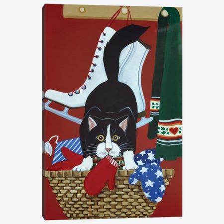 Mitten Kitten Canvas Print #JPA33} by Jan Panico Canvas Print