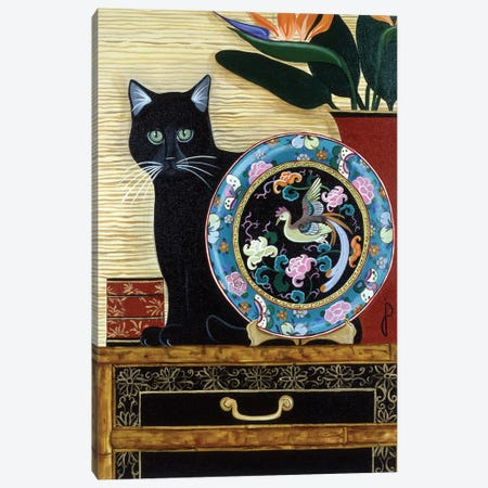 Oriental Plate Canvas Print #JPA40} by Jan Panico Canvas Wall Art