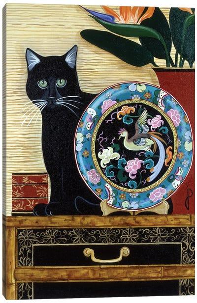 Oriental Plate Canvas Art Print