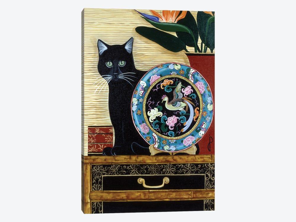 Oriental Plate by Jan Panico 1-piece Canvas Artwork