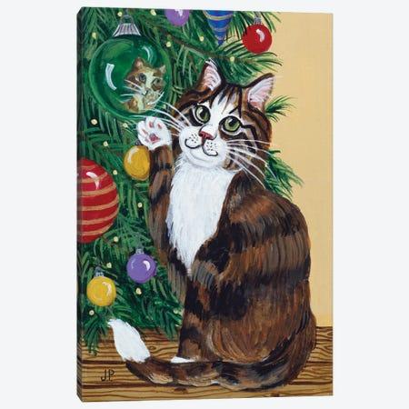 Rudolpha Awaiting An Ornament Canvas Print #JPA47} by Jan Panico Canvas Print