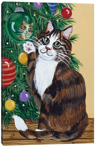 Rudolpha Awaiting An Ornament Canvas Art Print