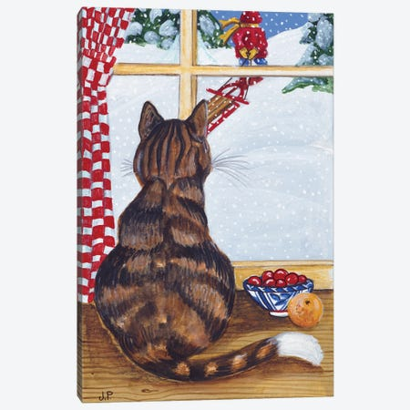 Rudolpha Watching Out The Window Canvas Print #JPA49} by Jan Panico Canvas Art