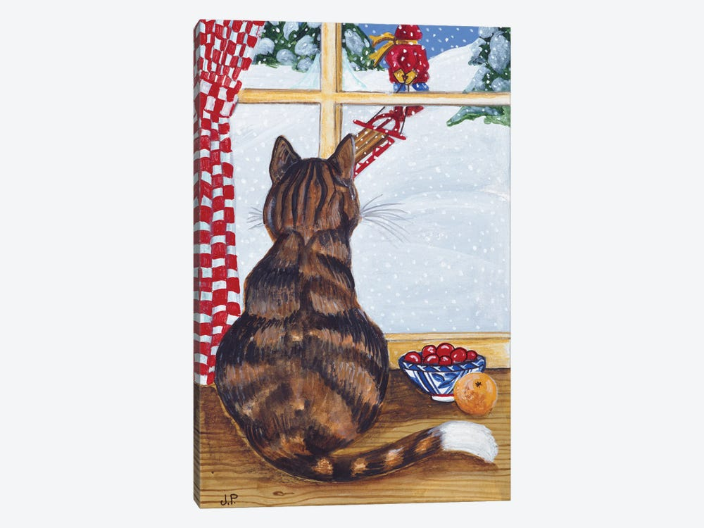 Rudolpha Watching Out The Window by Jan Panico 1-piece Canvas Art Print