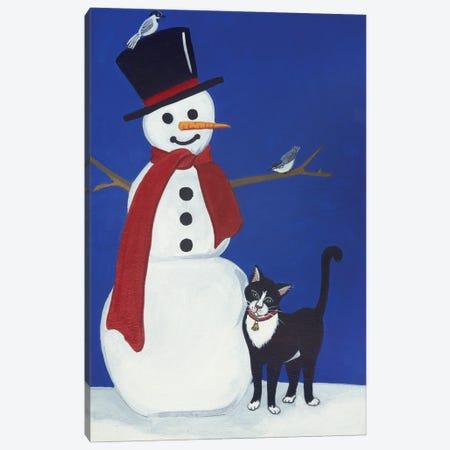 Snowman Canvas Print #JPA53} by Jan Panico Art Print