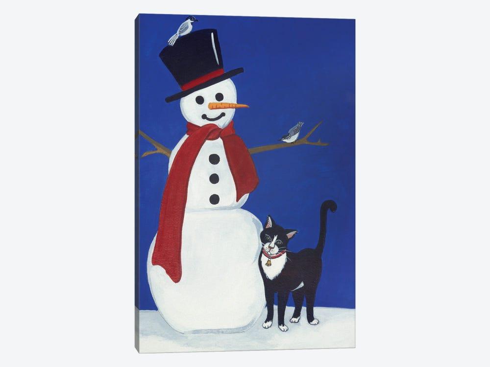 Snowman by Jan Panico 1-piece Canvas Artwork