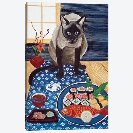 Sushi Lover Canvas Print #JPA55} by Jan Panico Canvas Artwork