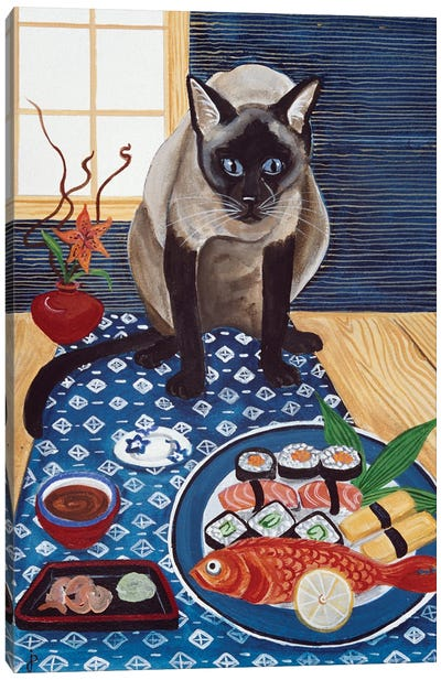 Sushi Lover Canvas Art Print