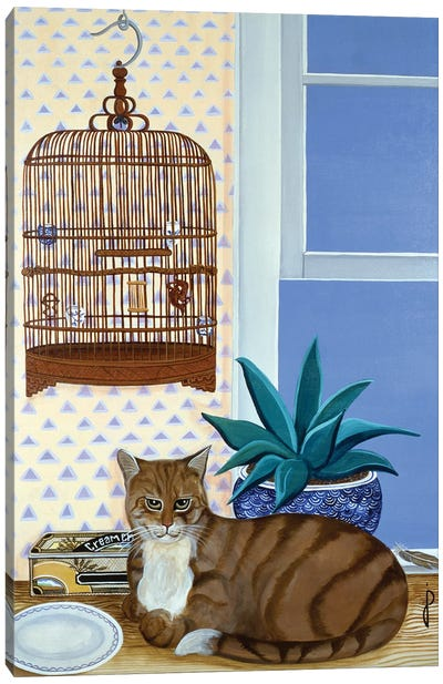 The Empty Cage Canvas Art Print