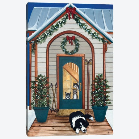 Waiting For Santa Claws Canvas Print #JPA62} by Jan Panico Canvas Wall Art