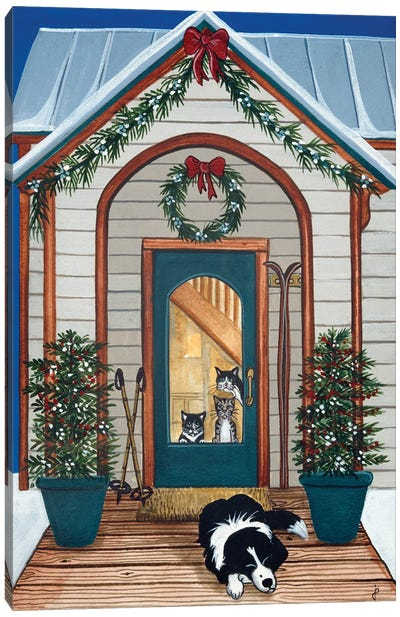 Waiting For Santa Claws Canvas Art Print