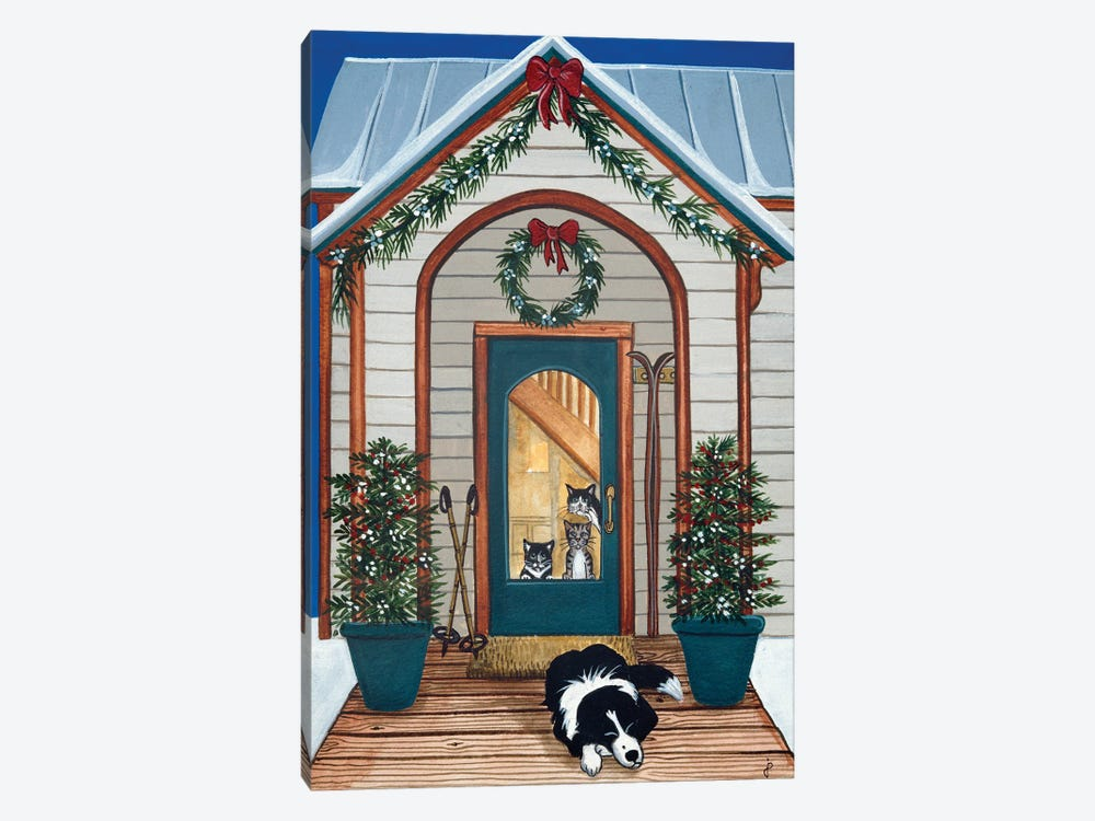Waiting For Santa Claws by Jan Panico 1-piece Canvas Artwork