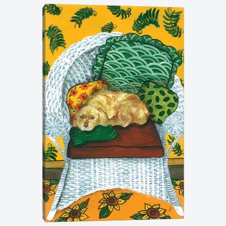 Wicker Chair Canvas Print #JPA64} by Jan Panico Art Print