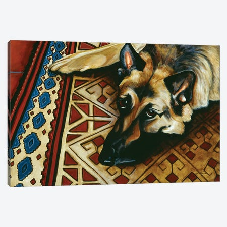 Wolfie Canvas Print #JPA65} by Jan Panico Canvas Print