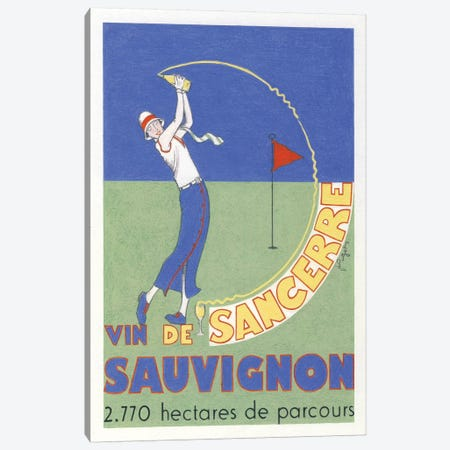 The Wine Of Sancerre Vintage Advertisement Canvas Print #JPG10} by Jean-Pierre Got Canvas Print