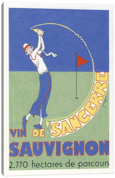 The Wine Of Sancerre Vintage Advertisement Canvas Art Print