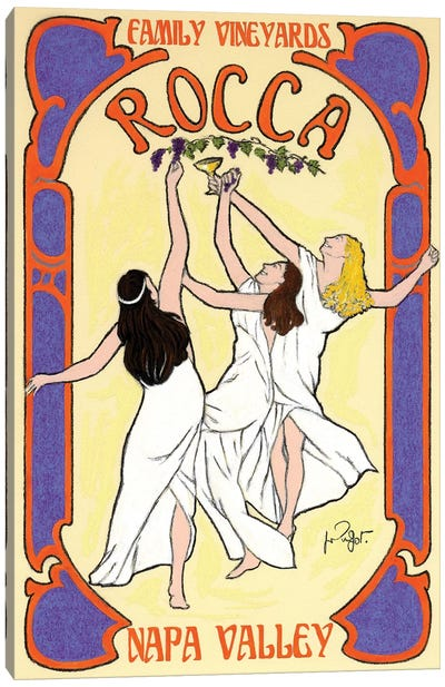 Rocca Family Vineyards Vintage Advertisement Canvas Art Print