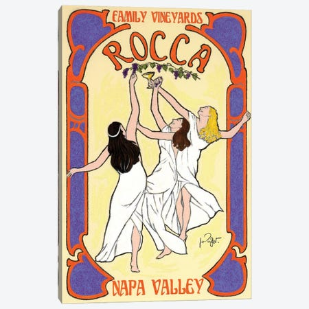 Rocca Family Vineyards Vintage Advertisement Canvas Print #JPG11} by Jean-Pierre Got Canvas Print