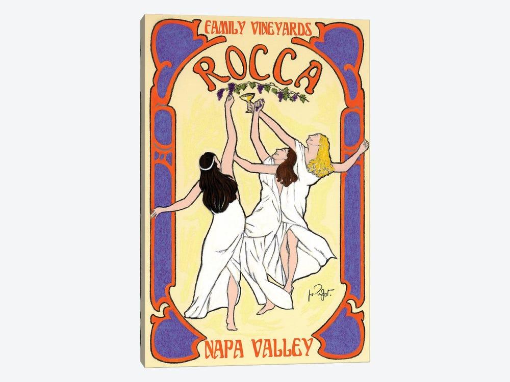Rocca Family Vineyards Vintage Advertisement by Jean-Pierre Got 1-piece Canvas Wall Art