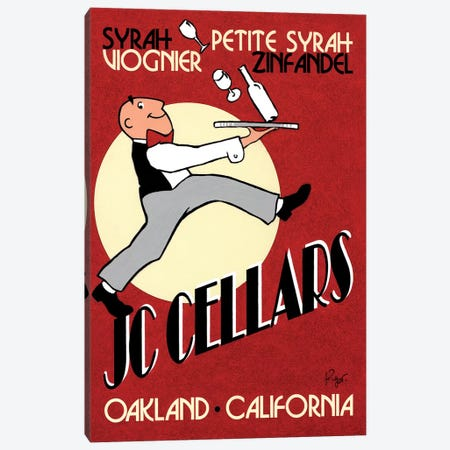 JC Cellars Vintage Advertisement Canvas Print #JPG1} by Jean-Pierre Got Canvas Artwork