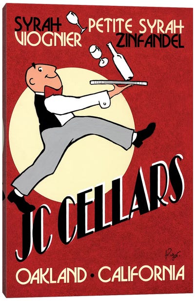 JC Cellars Vintage Advertisement Canvas Art Print