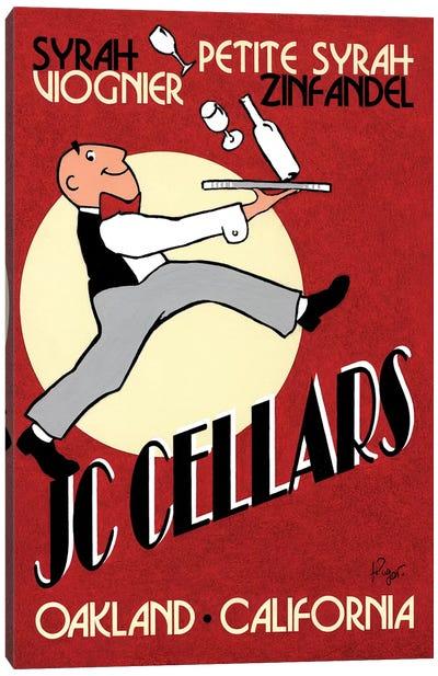 JC Cellars Vintage Advertisement Canvas Art Print