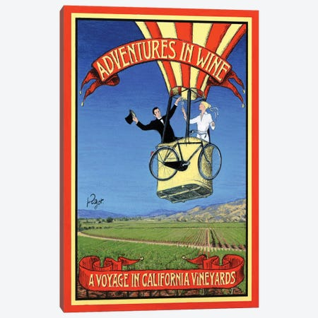 Adventures In Wine Canvas Print #JPG2} by Jean-Pierre Got Canvas Artwork