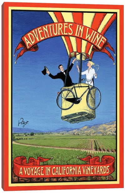 Adventures In Wine Canvas Art Print