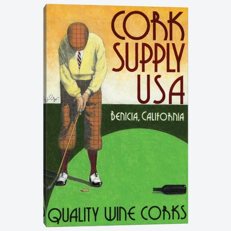 Cork Supply Vintage Advertisement Canvas Print #JPG4} by Jean-Pierre Got Art Print