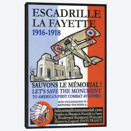 Escadrille De Lafayette Canvas Print #JPG5} by Jean-Pierre Got Canvas Print