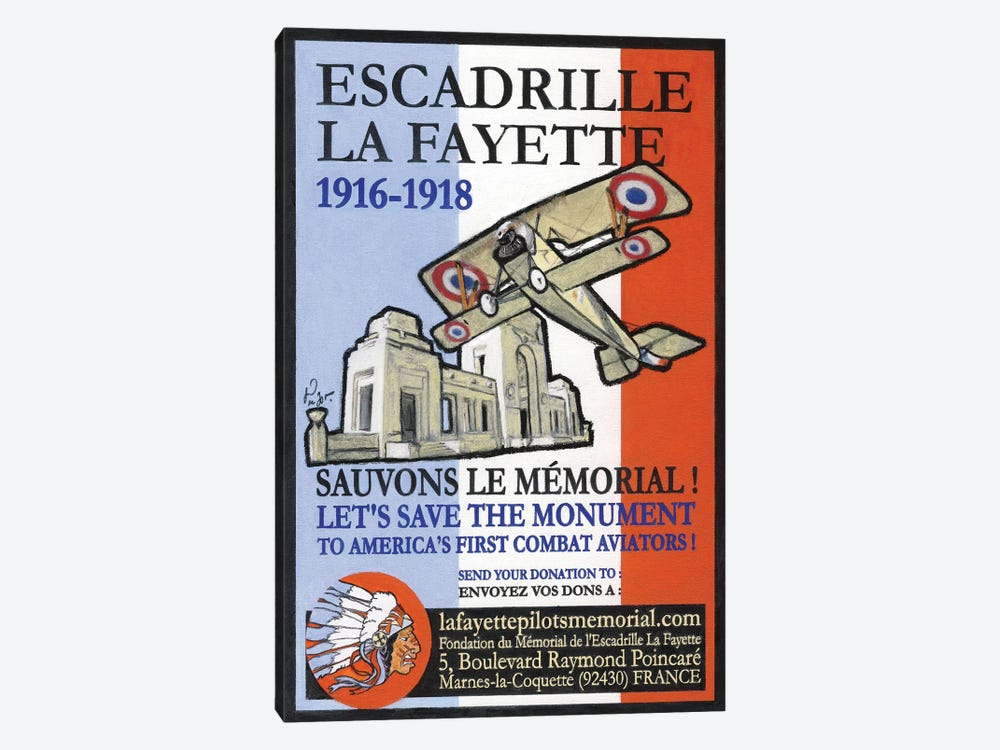 Escadrille De Lafayette by Jean-Pierre Got 1-piece Art Print