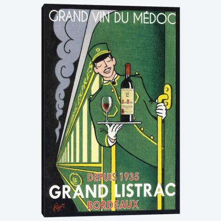 1935 Grand Listrac Wine Vintage Advertisement Canvas Print #JPG7} by Jean-Pierre Got Art Print