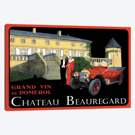 Chateau Beauregard Wine Vintage Advertisement Canvas Print #JPG8} by Jean-Pierre Got Canvas Art