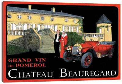 Chateau Beauregard Wine Vintage Advertisement Canvas Art Print
