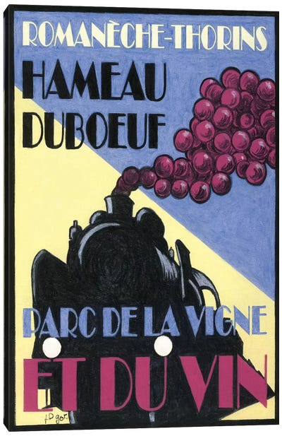 Hameau Duboeuf Viticulture Theme Park Vintage Advertisement Canvas Art Print