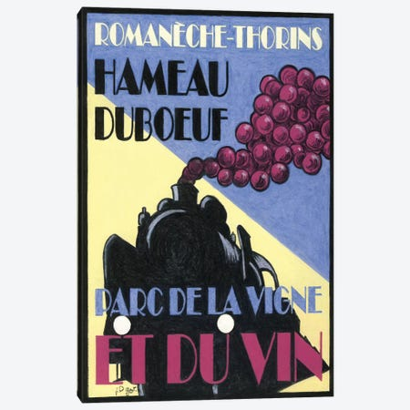 Hameau Duboeuf Viticulture Theme Park Vintage Advertisement Canvas Print #JPG9} by Jean-Pierre Got Canvas Art