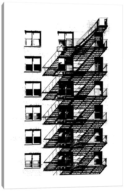 NYC In Pure B&W X Canvas Art Print
