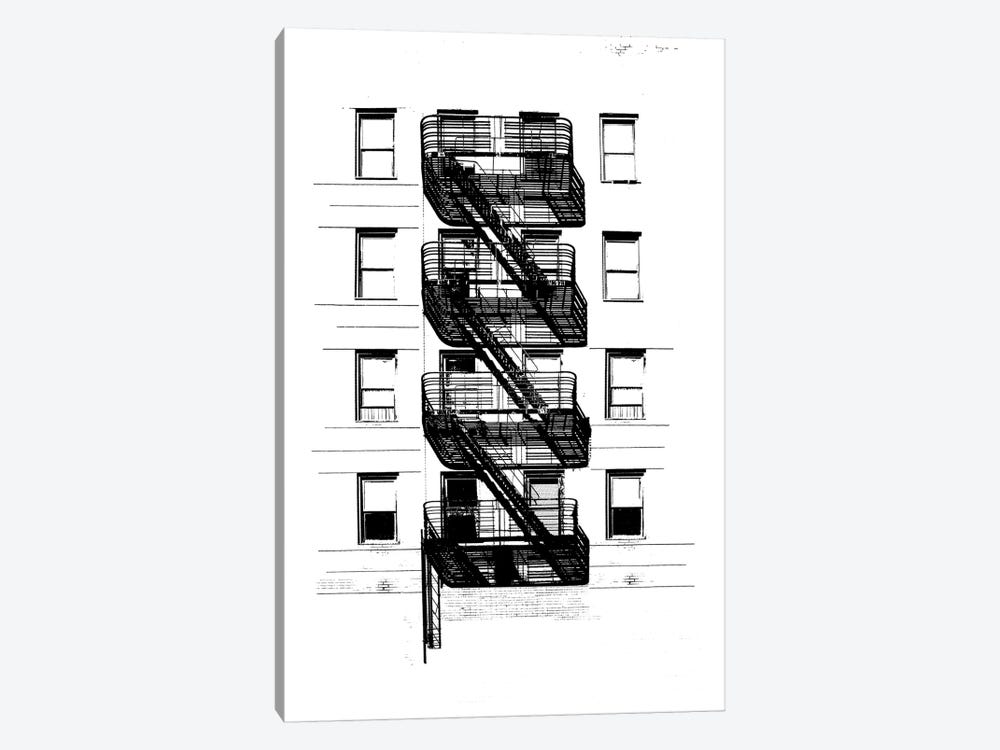 NYC In Pure B&W XI 1-piece Canvas Art Print