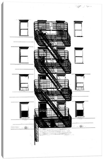 NYC In Pure B&W XI Canvas Art Print