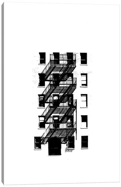 NYC In Pure B&W XIII Canvas Art Print