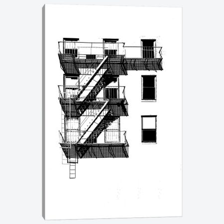 NYC In Pure B&W XIV Canvas Print #JPI14} by Jeff Pica Canvas Artwork