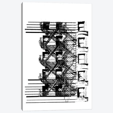 NYC In Pure B&W XV Canvas Print #JPI15} by Jeff Pica Canvas Wall Art
