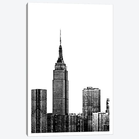 NYC In Pure B&W XVIII Canvas Print #JPI18} by Jeff Pica Canvas Art Print