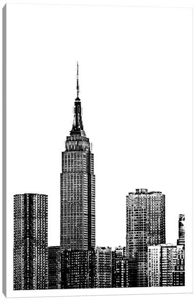 NYC In Pure B&W XVIII Canvas Art Print