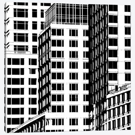 NYC In Pure B&W I Canvas Print #JPI1} by Jeff Pica Canvas Wall Art