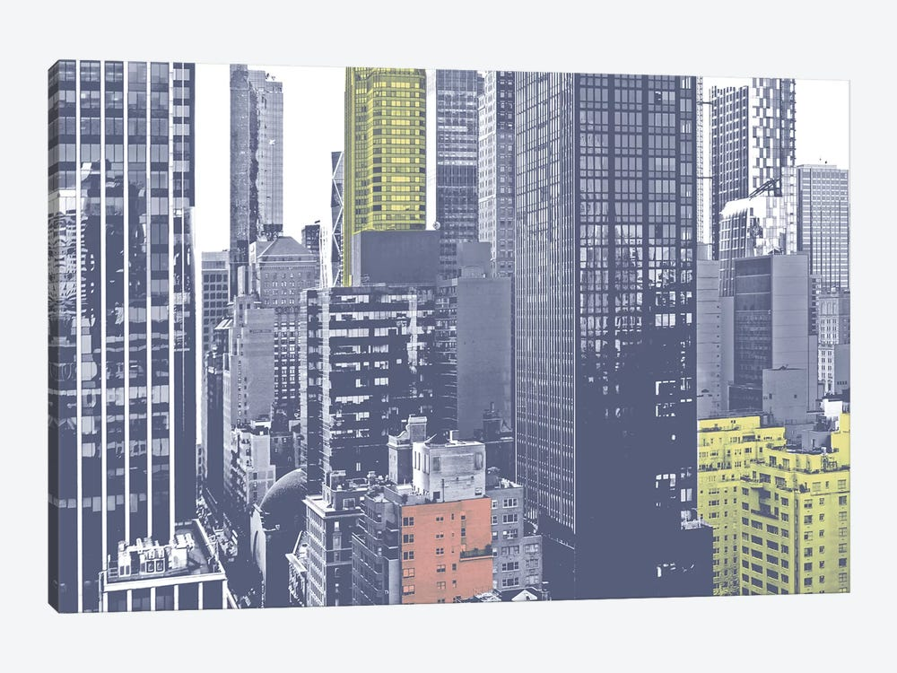 Pastel NYC III by Jeff Pica 1-piece Canvas Print