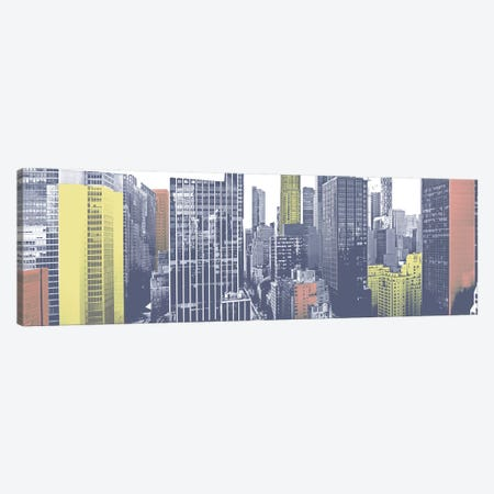 Pastel NYC Panorama Canvas Print #JPI23} by Jeff Pica Canvas Art