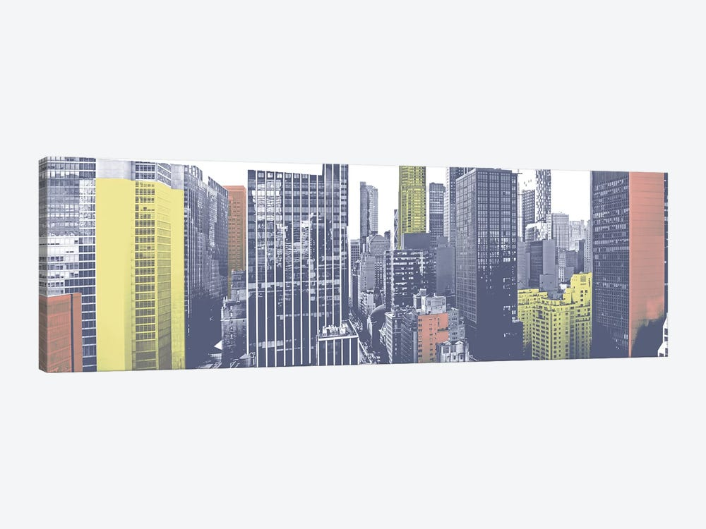Pastel NYC Panorama by Jeff Pica 1-piece Canvas Art