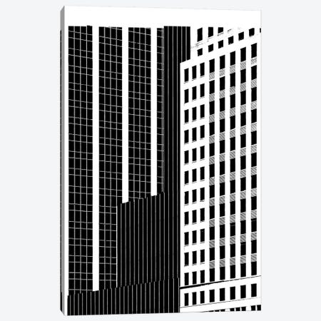 NYC In Pure B&W II Canvas Print #JPI2} by Jeff Pica Canvas Art