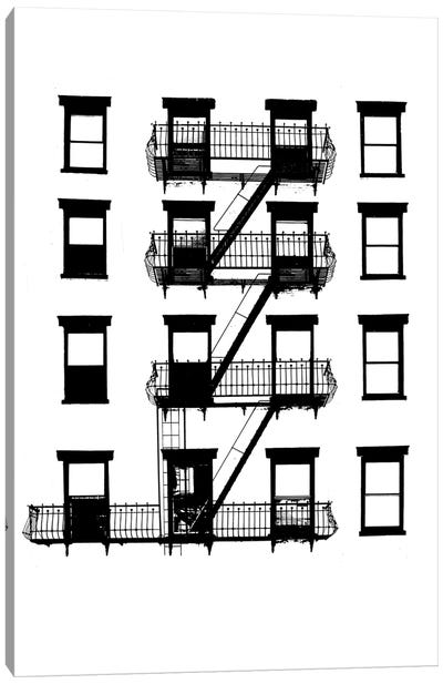 NYC In Pure B&W VI Canvas Art Print